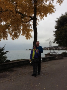 Wayne & Kathy in Montreux on Lake Geneva, November 2013