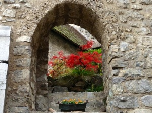 Inside courtyard at the Chateau de Chillon