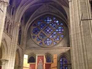 Swiss Evangelical Reformed Gothic Cathedral in Lausanne, Switzerland