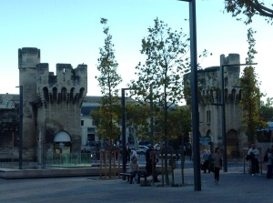 Avignon, France - The city ramparts