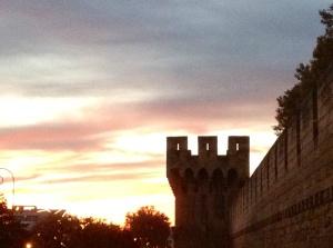 Avignon, France - Sunset, November 7, 2013