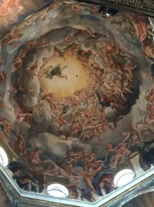 Correggio's ceiling fresco, The Assumption of Mary, in duomo in Parma, Italy