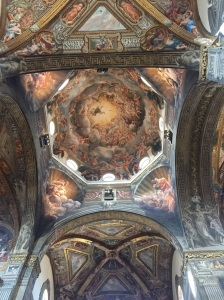 Another view of Correggio's fresco masterpiece in the dome ceiling of Parma's cathedral