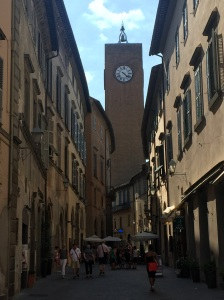 The Clock of Maurizio, the first automated clock of its kind to regulate working hours in the beautiful hill town of Orvieto, Italy: Etruscan, medieval, and also modern