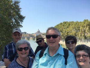 Arrival in Rome - Dan & Charlotte Berg, Allen & Rhonda Krahn, Wayne & Kathy Graumann - August 29, 2015