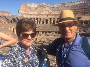 Dan & Charllotte Berg at the Roman Colosseum August 30, 2015