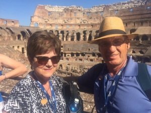 Dan & Charllotte Berg at the Roman Colosseum August 30, 2015