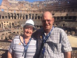 Rhonda & Allen Krahn at the Roman Colosseum August 30, 2015