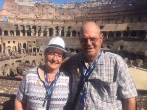 Rhonda & Allen Krahn at the Roman Colosseum August 30, 2015