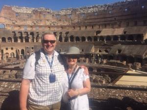 Wayne & Kathy Graumann at the Roman Colosseum August 30, 2015