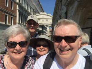 Rhonda & Allen Krahn and Kathy & Wayne Graumann at the Bridge of Sighs in Venice, Italy - 08/26/2015