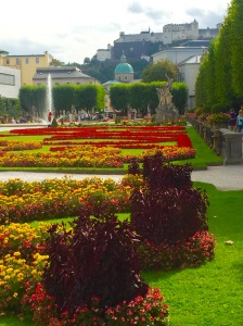 "Salzburg's beautiful Mirabell Gardens in which many scenes from ""The Sound of Music"" were filmed."