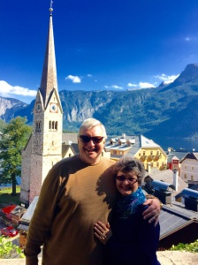 Wayne and Kathy view the enchanting village of Hallstatt, Austria, from a hilltop overlooking the Lutheran church that ministers to the community in Word and deed.