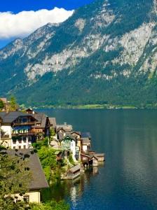 A captivating scene from Hallstett, Austria