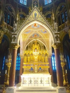 Central altar in St. Stephen's Cathedral, Vienna, Austria