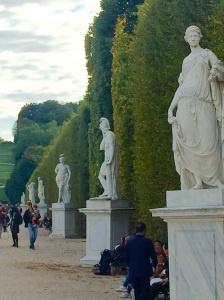 Statuary in the gardens of the Schönbrunn Palace