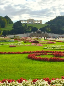Another view of the beautiful gardens of the Schönbrunn Palace in Austria