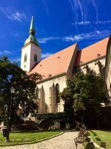 Another view of St. Martin's Cathedral in Bratislava