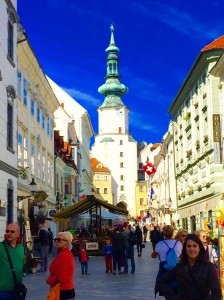 View from Bratislava Main Square in Old Town