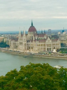 A  view  across the Danube from Castle Hill by day