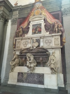 Michelangelo's Sarcophagus in the Sante Croche, Florence, Italy