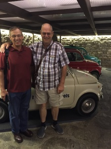 Dan Berg & Allen Krahn in front of an Italian car