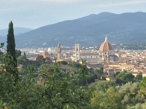 View of Florence, Italy, from the Tuscan farmhouse where our cooking class was held