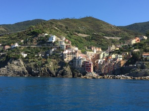 Viewing the Cinque Terre by boat