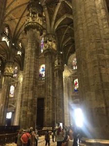 Marble columns in Milan's Duomo
