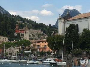 Scene on Lake Garda, Italy