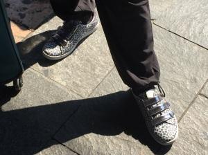 Charlotte's fashionable Italian shoes