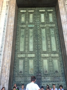 The door at St. Paul's Basilica commissioned by Julius Caesar over 2,000 years ago