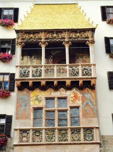 The Golden Roof, a landmark of Innsbruck from the reign of Kaiser Maximilian 1