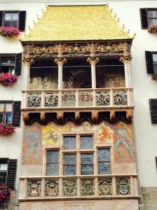 The Golden Roof, a landmark of Innsbruck from the reign of Kaiser Maximilian 1