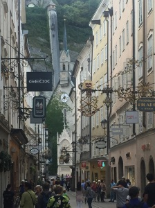 One of the beautiful street scenes in Salzburg