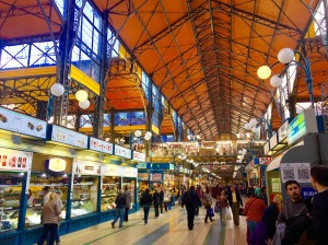 Inside Budapest's Central Market Hall