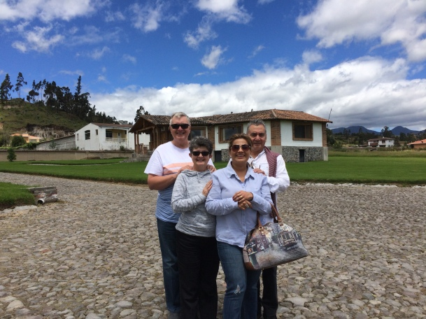 Wayne and Kathy Graumann with Roman' and Manuela Sanchez in Cotacachi, Ecuador May 2017