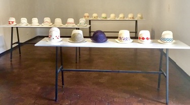 Ecuadorian Hat display, Museum of Modern Art, Cuenca, Ecuador