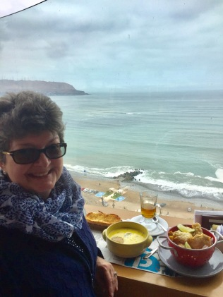 Dining above the Pacific Ocean, Lima, Peru