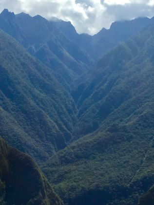 View of the Peruvian Andes from the train ride to Machu Picchu.