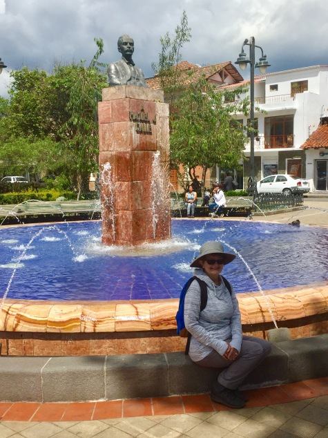 Walking in old town Cuenca, Ecuador