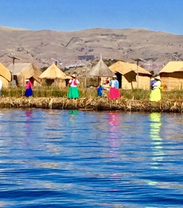 The Uros People who live on the Floating Islands of Lake Titicaca, Peru