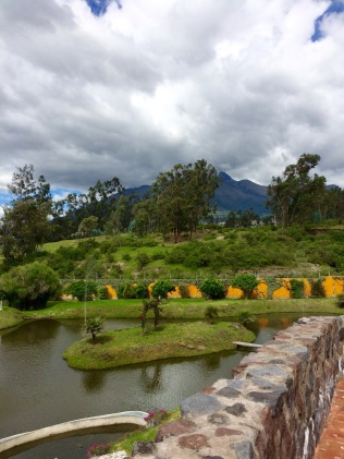 Cotacachi, Ecuador - View of Imbabura Volcano within the compound where U.S. Expatriates live within the city limits