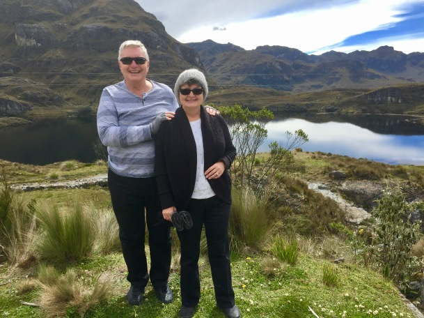 Wayne & Kathy in Cajas National Park, June 8, 2017