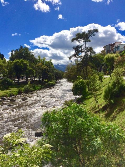 Tomebamba River, Cuenca, Ecuador