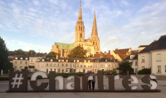 Chartres, France, and its world famous cathedral